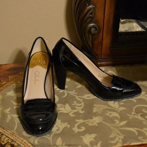 Cole Haan Patent Leather Loafer Style Pumps